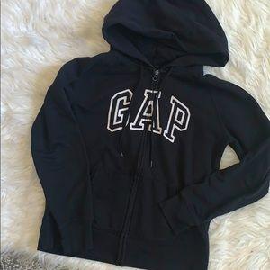 Gap unisex zip up hoodie logo Front